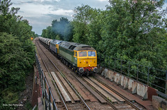 47812 & 47843 6E88 Middleton Towers Gbrf to Goole Glassworks Gbrf , Thorne North , 23-6-2014 (Bri Hall) Tags: spoon h goole horne class47 47812 47843 thornenorth middletontowers 6e88 gooleglassworks
