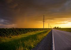 Golden Shower (JourneysEnd1750) Tags: sunset rain weather rural illinois midwest farm farming agriculture showers storms quadcities rockislandcounty cloudsstormssunsetssunrises