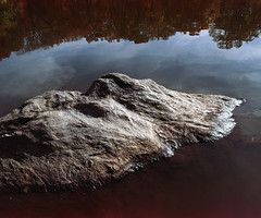 isle (davebias) Tags: nyc reflection film stone centralpark 6x7 expired