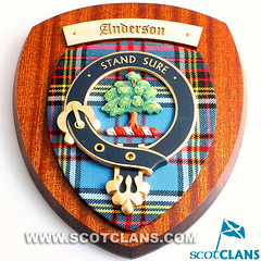 Anderson Clan Crest Wall Plaque