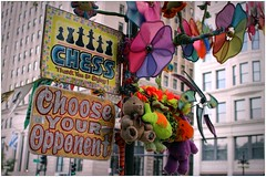 Touch and Go Chess Party (BalineseCat) Tags: party chicago sign downtown michigan go touch chess avenue pinwheels