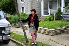lady street clown (susan_komer) Tags: street people clown clowns performer