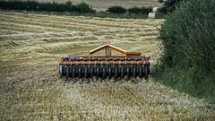 Harrowing Site (stevedewey2000) Tags: landscape farming marlborough harrow farmmachinery chisbury minolta100200