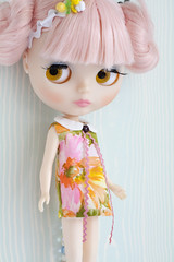 Lottie in the Vintage Aloha Dress