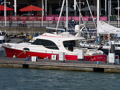 """Gaia"" -  Muiden (fstop186) Tags: red yacht quay solent motor gaia luxury cruiser gunwharf moored muiden berthed"