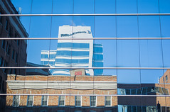 Reflections Downtown (Jason_Brimm) Tags: ontario canada cold reflection reflections nikon industrial arc windsor 2014 d5200 nikond5200