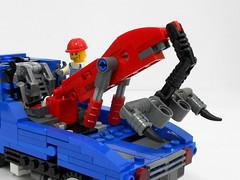 b7990 (alanyuppie) Tags: truck lego boom tow transform mech 6656