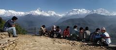 Hiking in Sarangkot (Rest Spot) (Call Me Ashmael) Tags: nepal pokhara annapurna himalayas sarangkot sacredmountain annapurnarange