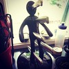 From a kitchen of one of my fans. She apparently takes The Steel Van Man very seriously. #thriller #steelvanman #books