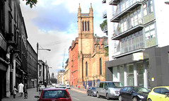 Ingram St west from Albion St. Glasgow 1973 - 2014 (Hugh Nicolson) Tags: history glasgow then now thenandnow
