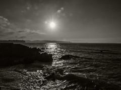 Contraluz / Backlight (Jose Antonio. 62) Tags: sea blackandwhite bw espaa blancoynegro beautiful backlight photography mar spain waves gijn asturias olas