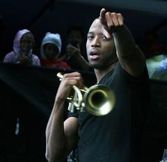 Trombone Shorty at the Newport Jazz Festival 2014, August 1-3, Newport, Rhode Island