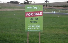 Lot 64, Kidd Circuit, Goulburn NSW