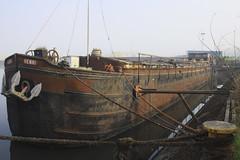 Old Barge at Grand Large, Mons Belgium (Deliege JF) Tags: river boat ship belgium belgique rusty creepy bateau péniche mons barge hainaut oldbarge grandlarge