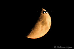 Fly me to the moon! II (Guillaume P. Boppe) Tags: sky moon night lune plane canon eos fly is inflight amazing perfect aircraft awesome flight jet aeroplane ciel 400 l 5d vol mm nuit 70200 f28 ef avion flymetothemoon timed extender x2 mk3 lseries spotter canoneos5d perfectly supershot seriel perfectlytimed 5dmkiii 5dmk3 moonflyby perfectlytimedphoto perfectlytimedphotos