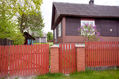 Red Fence and Farmhouse_4282 (hkoons) Tags: ranch houses house color home architecture rural fence buildings living town nationalpark community europe village farm country farming nation grain structures poland polish farmland structure soil dirt hues farms fencing produce grains agriculture residence population multicolored easterneurope abode residences furrows furrow farmlands zamość roztocze sochy zamośćvoivodeship zwierzywiec