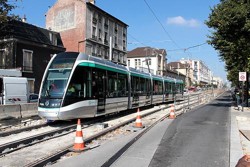 Le T8 à l'essai à Saint-Denis © A.Saulin