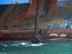 that's sea! (spicros78) Tags: sea colors strange rust paint ship vessel anchor piraeus