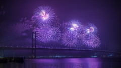 forth bridge fireworx 2014 (phunkt.com™) Tags: road birthday bridge scotland edinburgh display fireworks anniversary 4th keith firework valentine forth 50th 2014 phunkt phunktcom