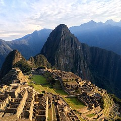 Machu Picchu at sunrise #nofilter