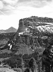 Carved By Ice (greenschist) Tags: blackandwhite snow mountains film mediumformat montana glaciernationalpark f4 65mm bronicarf645 fujifilmneopanacros100 montanausa zenzanonrf zenzanonrf65mmf4