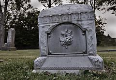 Everything's Coming Up Roses... (drei88) Tags: ohio cemetery grave gravestone zinc eternal mantua gravemarker ethelmerman portagecounty garrettsville zincy whitebronze hiramtownship hiramrapids