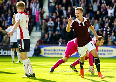 10201034 (Heart of Midlothian) Tags: hearts landscape football fulllength celebration sns falkirk 2014 scottishchampionship 20142015 14083009 heartsvfalkirk