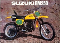 1978 SUZUKI RM250 SALES AD (Rickster G) Tags: pictures two classic vintage ads photo flyer cross offroad image photos antique album ds picture stroke images literature oldschool sierra trail photographs photograph tm 400 tc motorcycle 70s dirtbike suzuki collectible collectors pe sales brochure motocross mx rare spec ts 250 175 twostroke enduro dealer motox savage rm 2stroke tm400 twinshock vjm