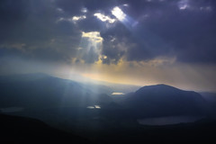 Lights suttle touch (cobaltsora) Tags: light cloud sun mist landscape view low snowdon rays snowdonia sora cobalt
