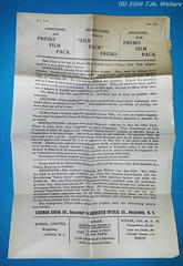 Kodak Premo Film Pack 6x9cm (expired 1st October 1913) (Vintage expired film photographer) Tags: bw film kodak pack expired non curling 1913 premo 6x9cm