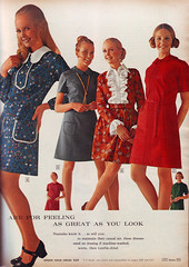 Sears 70 fw 4 dresses (jsbuttons) Tags: clothing buttons sears womens 70s catalog 1970 seventies vintagefashion