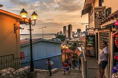 Guayaquil (Sulvara) Tags: city sunset people kids ecuador guayaquil cerrosantaana
