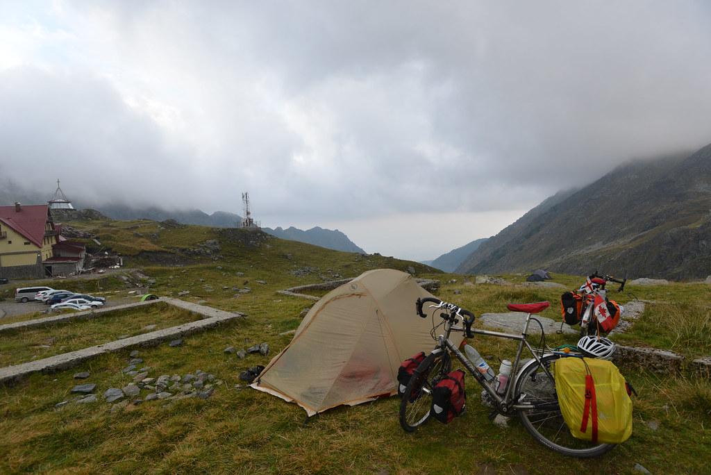 Camping at the summit