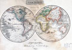 The World (sjrankin) Tags: world illustration map edited library historic internetarchive hemispheres internetarchivebookimage 11august2014