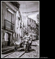 today in Lisbon (magicoda) Tags: street trip people blackandwhite bw white portugal bike vintage see nikon foto lisboa candid tram wave curioso bn persone motorbike voyeur passion moto fotografia dslr biancoenero alfama sidecar giro lisbona portogallo onda passione 2014 d300 revoluo 25abril cravos vedere garofano blackwhitephotos garofani streetphotografy magicoda davidemaggi maggidavide