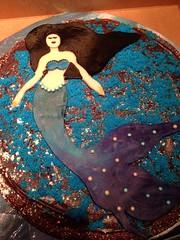 Mermaid cake by Vicki, Santa Cruz, CA, www.birthdaycakes4free.com
