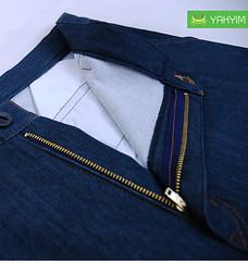กางเกงสามส่วนผู้ชายบิ๊กไซส์ผ้ายีนส์ยืดสีกรมเข้ม JNSY 001_2