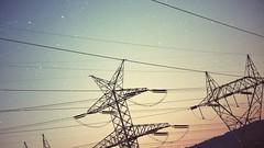 (yuurei) Tags: stars doubleexposure cable pylon