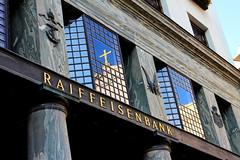 Kommt zusammen was zusammen gehrt (oberhaidinger) Tags: vienna wien city autumn canon eos austria sterreich europe kirche kreuz spiegelung erster katholische raiffeisen bezirk 700d giebelkreuz