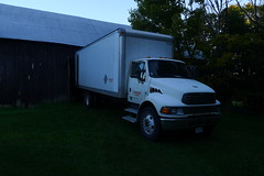 The truck arrives with the new shipment of books