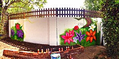 The Garden of the Star having some cool graffiti done (londonscalling2014!) Tags: camra