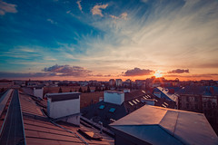 Sky in Warsaw (CarbonRock(Finch)) Tags: dualiso canon 6d dual iso magic lantern 100 nad 1600 hight dynamic rang renge master like it new technologiec technologies dslr camera aprat warszawa pjatk koszykowa 86 sky sunset