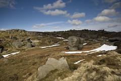 Woolpacks (Michael Hopwood) Tags: peakdistrict landscape derbyshire national park kinder scout woolpacks boulders stones blue sky moorland snow canon 5d