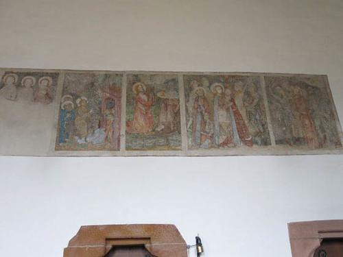 fresque figurant la vie du Christ