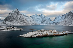Sakrisoy View (Palnick) Tags: winter landscape norway fjord snow lofoten village sea reine water nature ocean mountain norwegian town sky scandinavia nordic house coast arctic rorbu europe fishing outdoors north island rorbuer moskenesoya harbor scenery nordland hut sunny blue bay pier scenic red sunset boat ice peaks cold islands panorama sunrise travel picturesque houses lights night mountains sakrisoy