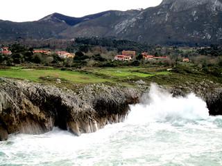 Llames de Pría, Llanes, Asturias, España.