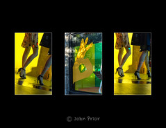 Stop...Go...Gotcha! - Montreal Fashion (John Prior 55 - back soon (home reno)) Tags: triptychs storewindowdisplays fashion montreal quebec urbanphotography trafficsignals reflections stop go gotcha
