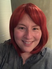 Chemo Wigs: Red Bob with Bangs (escriteur) Tags: img6274 cancer lymphoma chemotherapy chemo wig cosplay cosplaywig red bob bangs