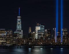IMG_0084 (JeriKenney) Tags: 911memorialbeamsoflight 91116 freedomtower libertystatepark nyskyline night