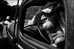 Born To Be Wild (Mroovac) Tags: funny car truck classiccar vintagecar carshow woman doll wild driver bw blackandwhite canon6d carlzeissdistagon35mmf2ze zeiss